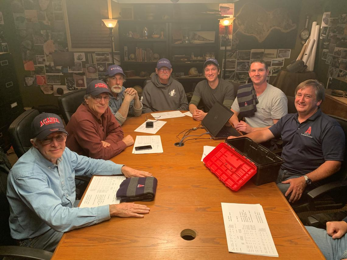 Fans who watch The Curse of Oak Island will recognize these familiar faces, from left: Craig Tester, Marty Lagina, Rick Lagina, David Blankenship, Alex Lagina, Steve Guptill and Ian Spooner.