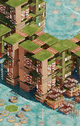 2050 LAGOS: Amphibious City, Lagos, Nigeria - Team: Gi chul Choe (South Korea), Joanne Li (China)