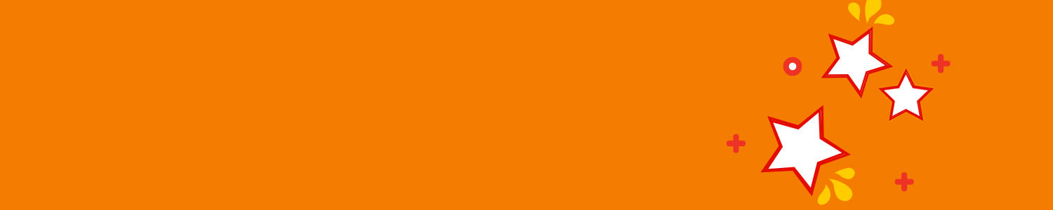 Stylized orange banner