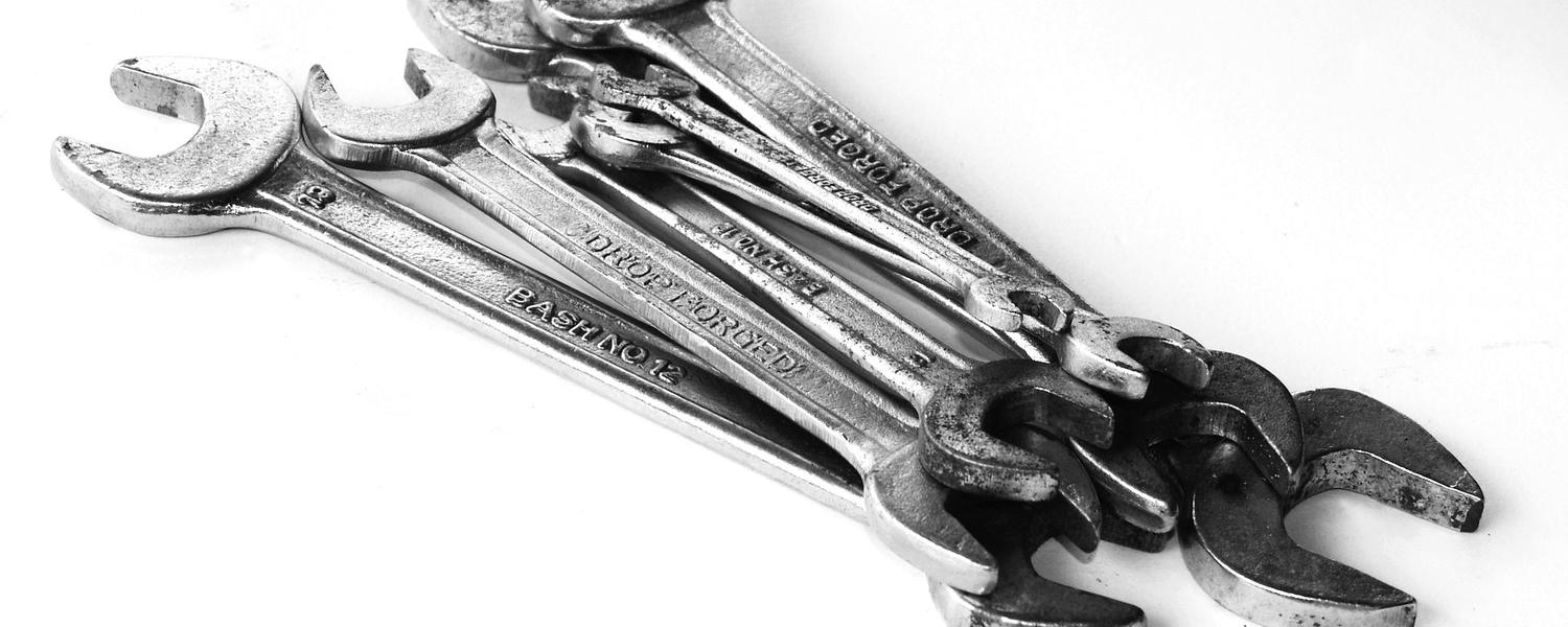 Image of a bunch of wrenches