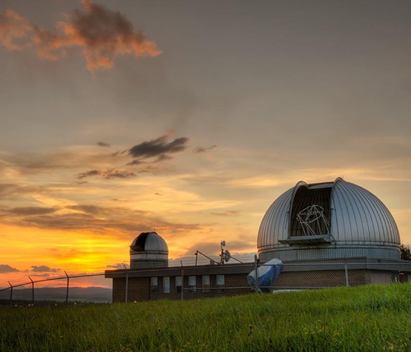 Rothney Astophysical Observatory at sunset