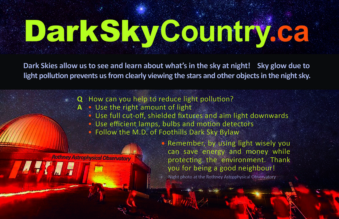Dark sky country postcard