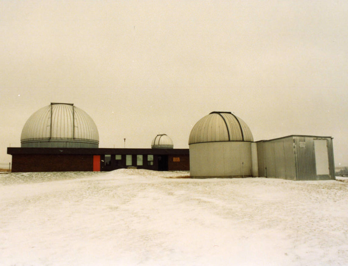Image of the Rothney Astrophysical Observatory at Priddis, Alberta in 1994.