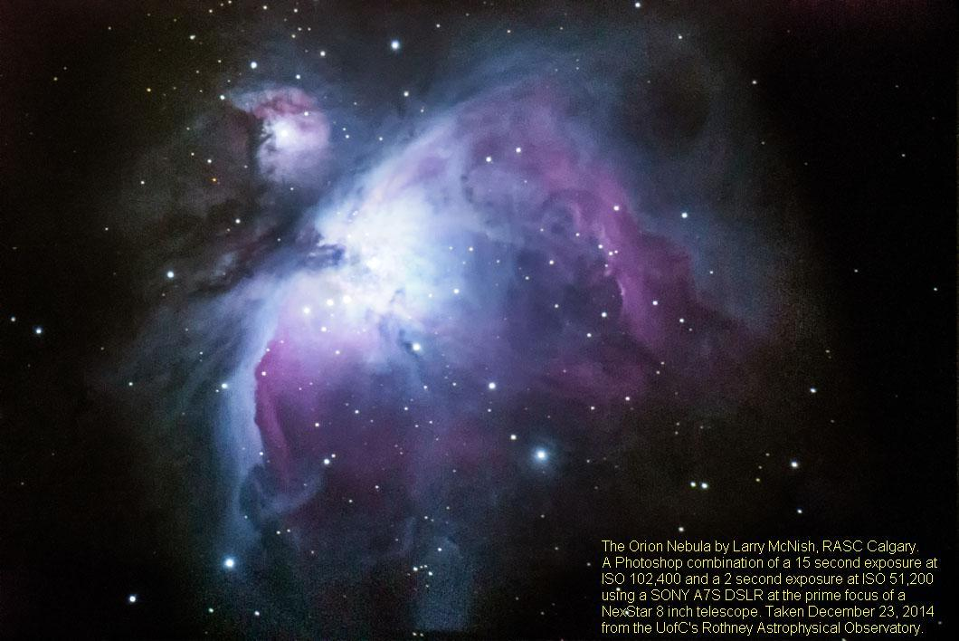Orion Nebula, Image by Larry Mcnish (RASC)