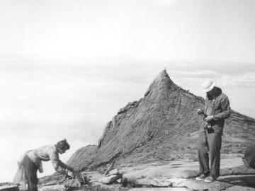 Louise and Richard on the summit plateau of Mount Kinabalu, northern Borneo.